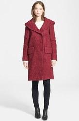 Jill Stuart Women's Dilan Wool Coat - Berry - Size: 2