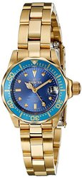 Invicta Women's Watch: 21536 Gold Band-Blue Dial