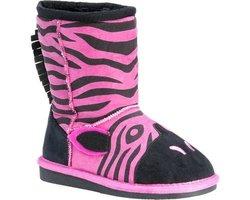 Muk Luks Kid Animal Fuschia Zebra Pull-On Boot - Fuchsia - Size: 10 M