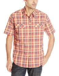 Royal Robbins Men's Summertime Plaid Short Sleeve Shirt - Brick - Sz: XXL