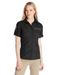 GWG: Girls With Guns Women's Military Shirt, Small, Black