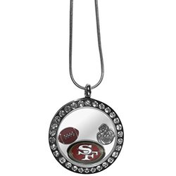 "NFL San Francisco 49Ers Women's Locket Necklace, Metal, 18"""