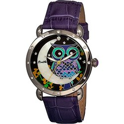 Bertha Ashley Ladies Watch: Br3002/plum Band-multi Colored Dial