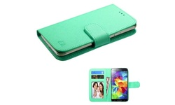 Insten Wallet Case for HTC One/Galaxy Avant S3/iPhone 5/6 - Green