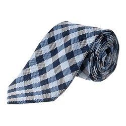 Republic Men's Woven Microfiber Tie - Checkered-Blue