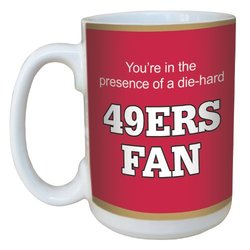 Tree-Free Greetings lm44134 49ers Football Fan Ceramic Mug with Full-Sized Handle, 15-Ounce