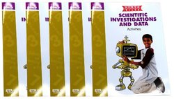 ETA hand2mind VersaTiles Scientific Investigations and Data Grade 7 Activity Book, Set of 5