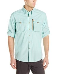 Buffalo Jackson Trading Co Men's Riverdale Fishing Shirt, Seafoam Plaid, XX-Large