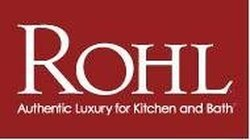 Rohl C7672HSTN Country Kitchen & Country Bath Threaded Screw Cover Cap Complete with Outer Ring & White Porcelain Insert with Hot Script, Satin Nickel