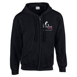 Pampered Pets Full Zip Hoodie - Black - Size: Large