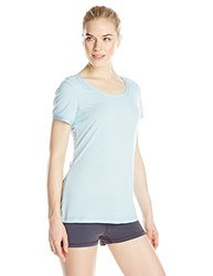 White Sierra Women's Pinstripe T-Shirt - Sky Blue - Size: Medium
