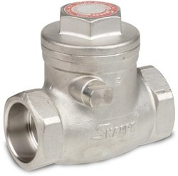 "Sharpe Valves 20276 Series Stainless Steel 316 Swing Check Valve, 1-1/2"" Socket Weld"