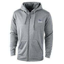 NFL Tennessee Titans Trophy Tech Fleece Full Zip Hoodie, Large, Grey