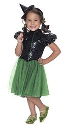 Rubie's Girls Wizard of Oz Wicked Witch Sequin Costume - Medium