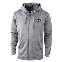 Dunbrooke Apparel NFL New York Jets Fleece Full Zip Hoodie - Grey - Size:  S