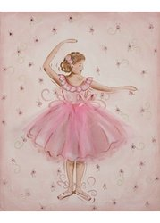 Renditions By Reesa Tutu Ballerina Embellished Canvas Art