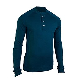Showers Pass Men's Bamboo Merino Henley Shirt - Navy Blue - Size: XL