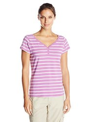 Columbia Sportswear Women's Reel Beauty II Short Sleeve Shirt - Pink - XL