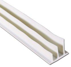 "Pemko Silicone Adhesive-Backed Fire/Smoke Gasketing, White Silicone Finish, 0.5"" W x 0.375"" H x 17' L"