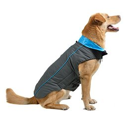 "Dog Gone Smart Trailblazer Jacket with Repelz-It Nano-Protection Coat for Dogs, 8"", Grey with Teal"