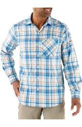 Columbia Men's Insect Blocker Plaid Long Sleeve Shirt - Hyper Blue - Small