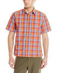Mountain Khakis Men's Deep Creek Crinkle Shirt, Cantaloupe/Multicolor, Small