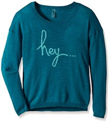 Soybu Girl's Hello There Wishing Well Sweater - Blue - Size: Small