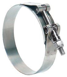 Ideal-Tridon 30020 Series Stainless Steel 201/301 T-Bolt Channel Bridge Hose Clamp, Heavy Duty, 116 SAE Size, 114.3 mm - 122.2 mm Hose OD Range (Pack of 10)