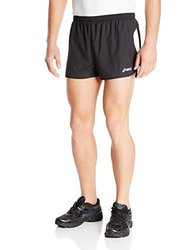 ASICS Men's Wicked 1/2 Split Short (Black/White), X-Large
