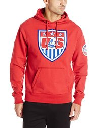 World Cup Soccer US Men's Striker Pullover Hoodie - Red - Size: M