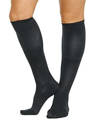 Tommie Copper Women's Recovery Rise Over the Calf Dress Socks, Charcoal, 4-6.5