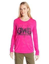 GWG Women's Buck Head Burnout T-Shirt - Pink - Size: 1X