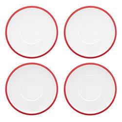 Dansk Kobenstyle Teacup Saucer Set - Chili Red
