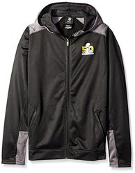 NFL Super Bowl 50 Youth 8-20 Full Zip Hood-Size: Large 14-16