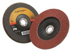 "3M 7"" x 7/8"" Cubitron II Type 27 Multiple Grades Flap Disc (967A)"