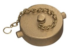 Kuriyama Hose or Pipe Cap with Chain/Brass/NPSH Thread (BCAP-40SH)