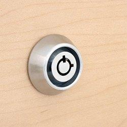 Keyed Different Small Tubular Cam Lock w/ Collar Ring- Chrome Finish- 7/16