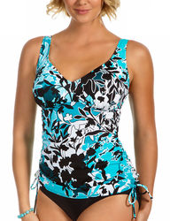 Penbrooke Women's Barcelona Empire Tankini Swimsuit - Misses - Teal - 14