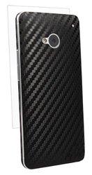BodyGuardz BZ-ACBON-0313 Carbon Fiber Armor Stylish Skin Full Body Protector for HTC One - 1 Pack - Retail Packaging - Black
