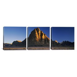 "iCanvas Art Rock Formations Landscape 3PC Canvas Art Print - Size: 36""x12"""