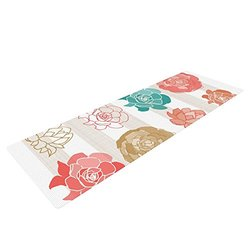 Kess Inhouse Flower Yoga Mat - Multi Color