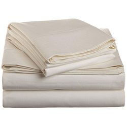 1500 Thread Count Bed Sheet Set Deep Pocket - Ivory - Size: King