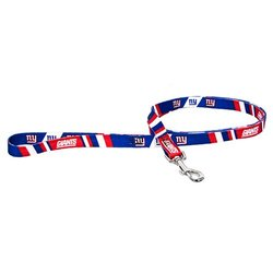 NFL New York Giants Pet Lead, Large, Team Color