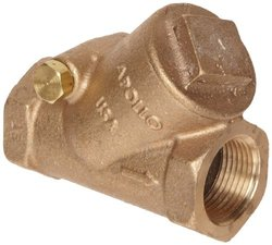 "Apollo 163T-LF Series Bronze Swing Check Valve, Potable Water Service, Class 125, PTFE Seat, 3/4"" NPT Female"