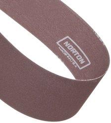 """Norton Metalite R228 Backstand Abrasive Belt, Cotton Backing, Aluminum Oxide, 3"""" Width, 132"""" Length, Grit 180 (Pack of 10)"""