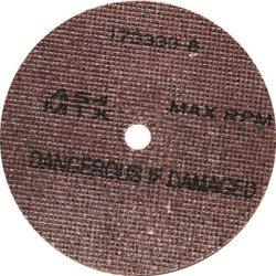 United Abrasives/SAIT 29212 7 by 1/4 by 7/8 A24 UA-MTX Cotton Fiber Wheel, 10-Pack