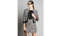 Renamed Women's Tweed Blazer - Multi - Size: Small