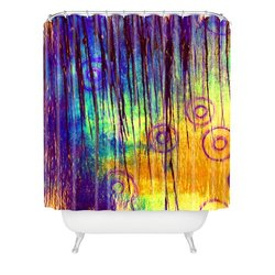 "Sophia Buddenhagen 69"" x 72"" Shower Curtain - Blue Crush"