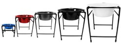 Platinum Pets Modern Single Diner Stand with 28-Ounce Rimmed Bowl, Gold