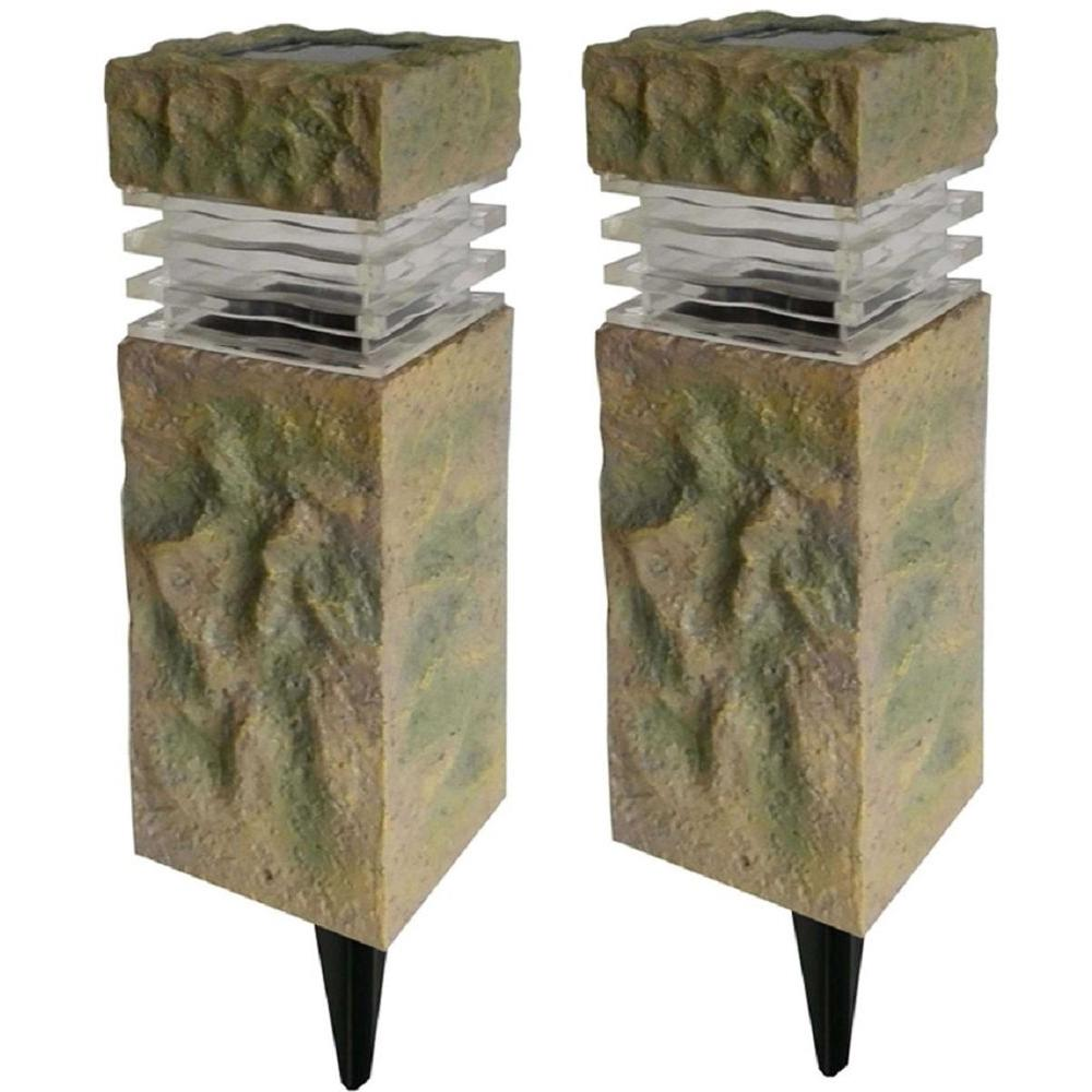 outdoor column mount lighting fixtures brick column hampton bay 49856 solar powered rock outdoor pillar path light pack